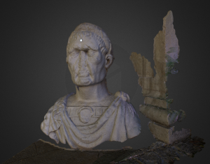 3D Render roemisches Kaiserbild Eichst'tt